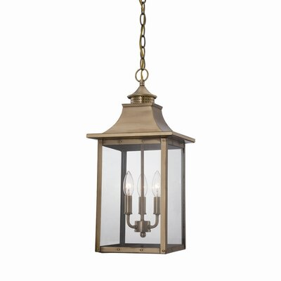 17 Stories Dillion 3 Light Outdoor Hanging Lantern