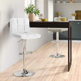 Shayna Height Adjustable Swivel Bar Stool By Zipcode Design