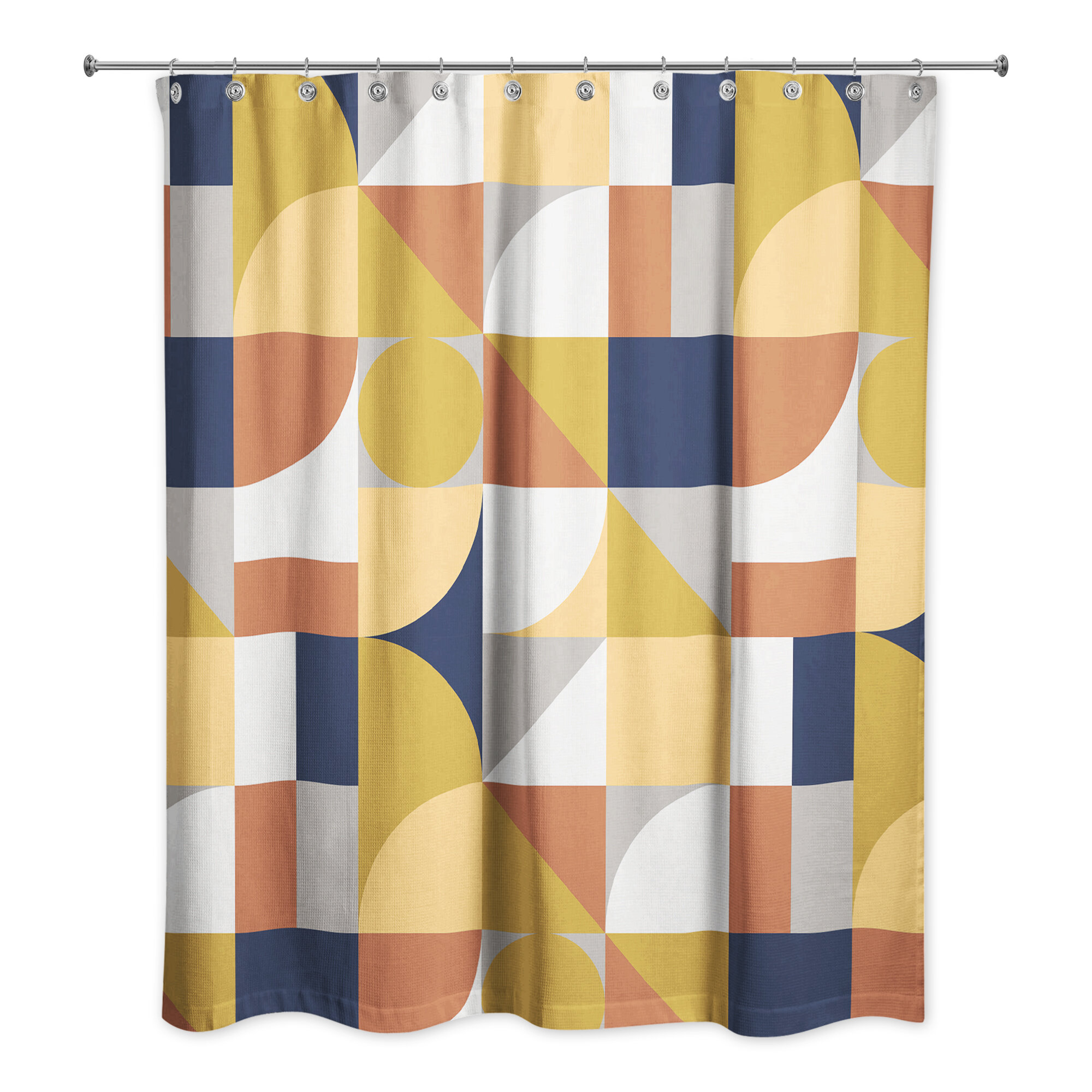 Corrigan Studio Mirabal Geometric Single Shower Curtain Wayfair