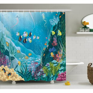 Price Check Underwater Landscape Decor Shower Curtain By East Urban Home