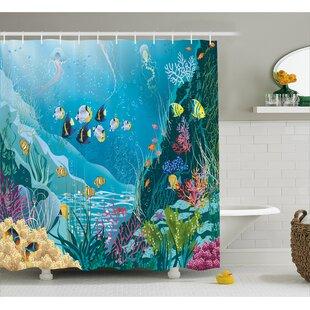 Underwater Landscape Decor Single Shower Curtain