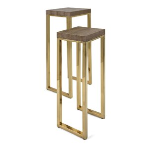 Emersyn Stainless Steel 2 Piece Nesting Tables by Everly Quinn