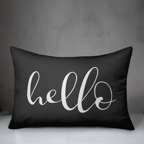 Ebern Designs Lummus Hello Outdoor Rectangular Pillow Cover Insert Reviews Wayfair