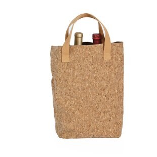 Cork Tote Double Bottle Carrier