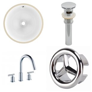 Best Reviews Ceramic Circular Undermount Bathroom Sink with Faucet and Overflow ByAmerican Imaginations