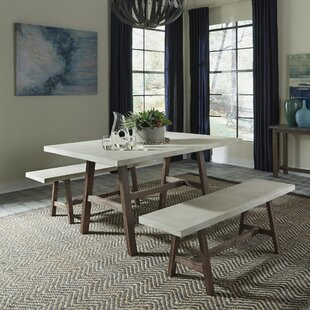 Spells Trestle 3 Piece Dining Set Trent Austin Design