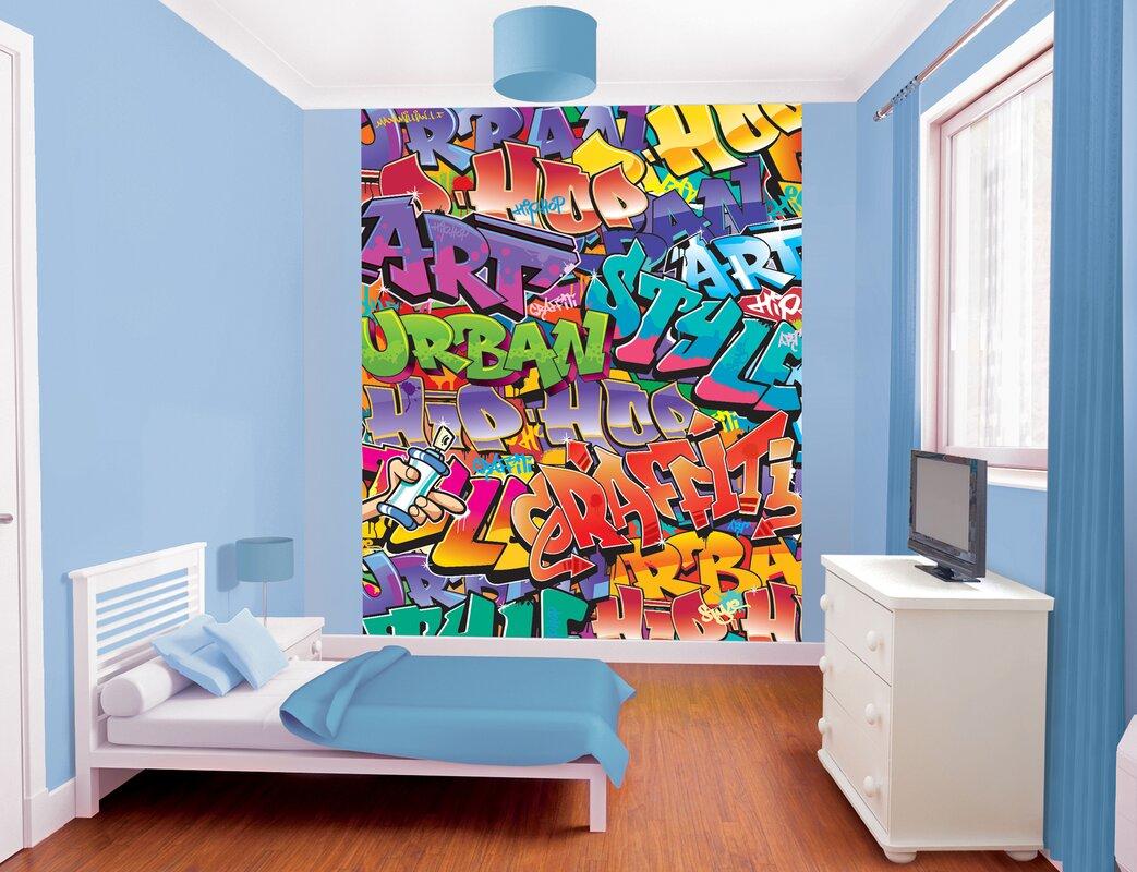 wallpops walltastic wall art graffiti wall mural reviews wayfair default name