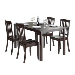 Dunster 5 Piece Dining Set by DarHome Co 2019 Online