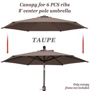 Celine Umbrella Canopy 6 Rib Top Outdoor Patio Replacement Cover