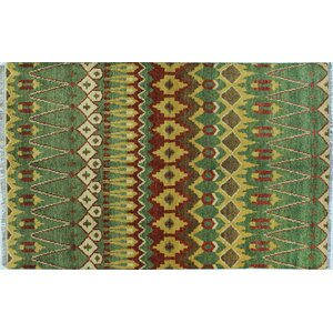 Sierra Hand-Knotted Green Area Rug