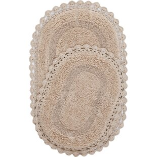 Compare & Buy Crochet Reversible 2 Piece Bath Mat Set By Shabby Chic