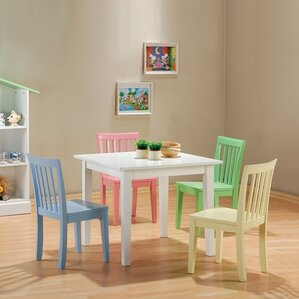 Fort Stevens Kidsu0027 5 Piece Table and Chair Set & Modern Kids Table + Chair Sets | AllModern islam-shia.org