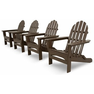 Classics 4-Piece Folding Adirondack Conversation Set