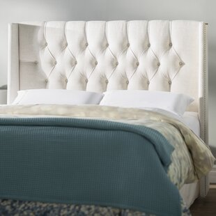 Looking for Hillenbrand Tufted Linen Upholstered Wingback Headboard by Brayden Studio