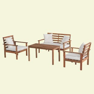 Lederer 4 Piece Sofa Seating Group with Cushions