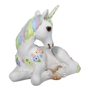 Design Toscano Sparkle the Mystical Magical Resting Unicorn Statue