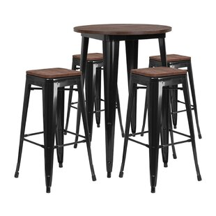 Mulligan Round 5 Piece Pub Table Set Williston Forge