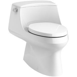 Kohler San Raphael Raphael Skirted 1-Piece Elongated 1.28 GPF Toilet with Left-Hand Trip Lever