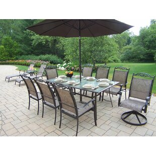 August Grove Basile Dining Set with Umbrella