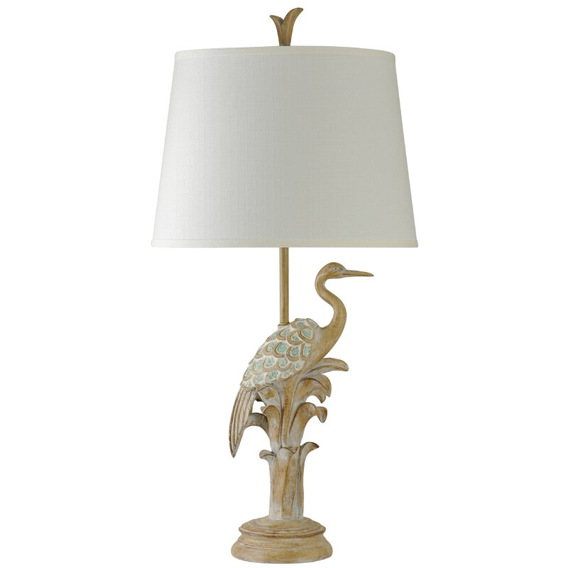 """Hookton Bird of the Beach 36"""" Table Lamp - What's not to love about the casual, laid back charm and rustic decor in the Grace and Frankie beach house? Come get resources and design ideas as well as paint colors to get the look for yourself! #graceandfrankie #interiordesign #graceandfrankie"""