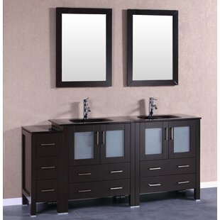 Trent 71 Double Bathroom Vanity Set with Mirror by Bosconi