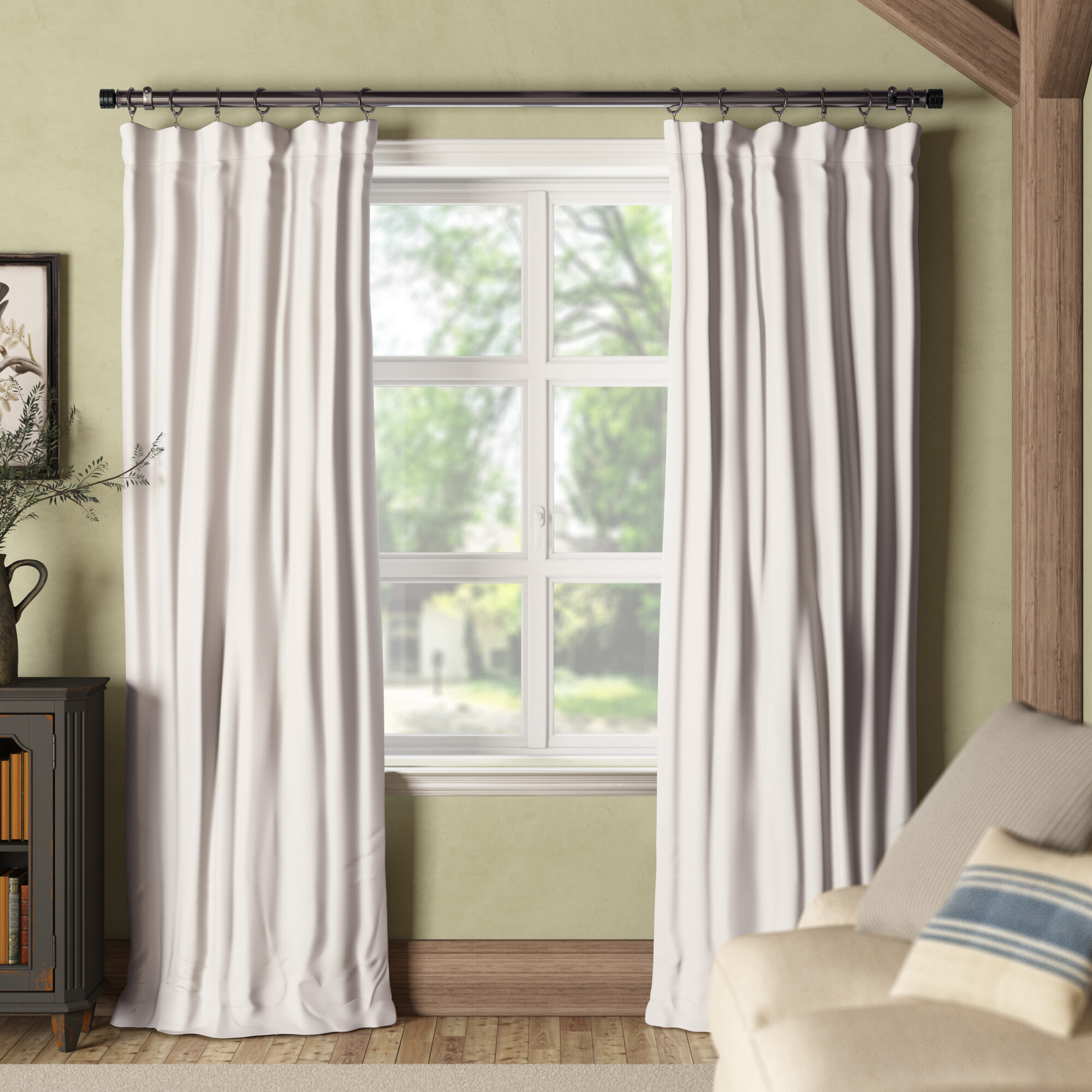 Key Features The Densely Woven Curtains Darken Room And Provide Privacy By Preventing People Outside From Seeing Into Effective At
