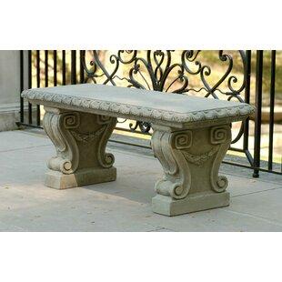 Longwood Cast Stone Garden Bench