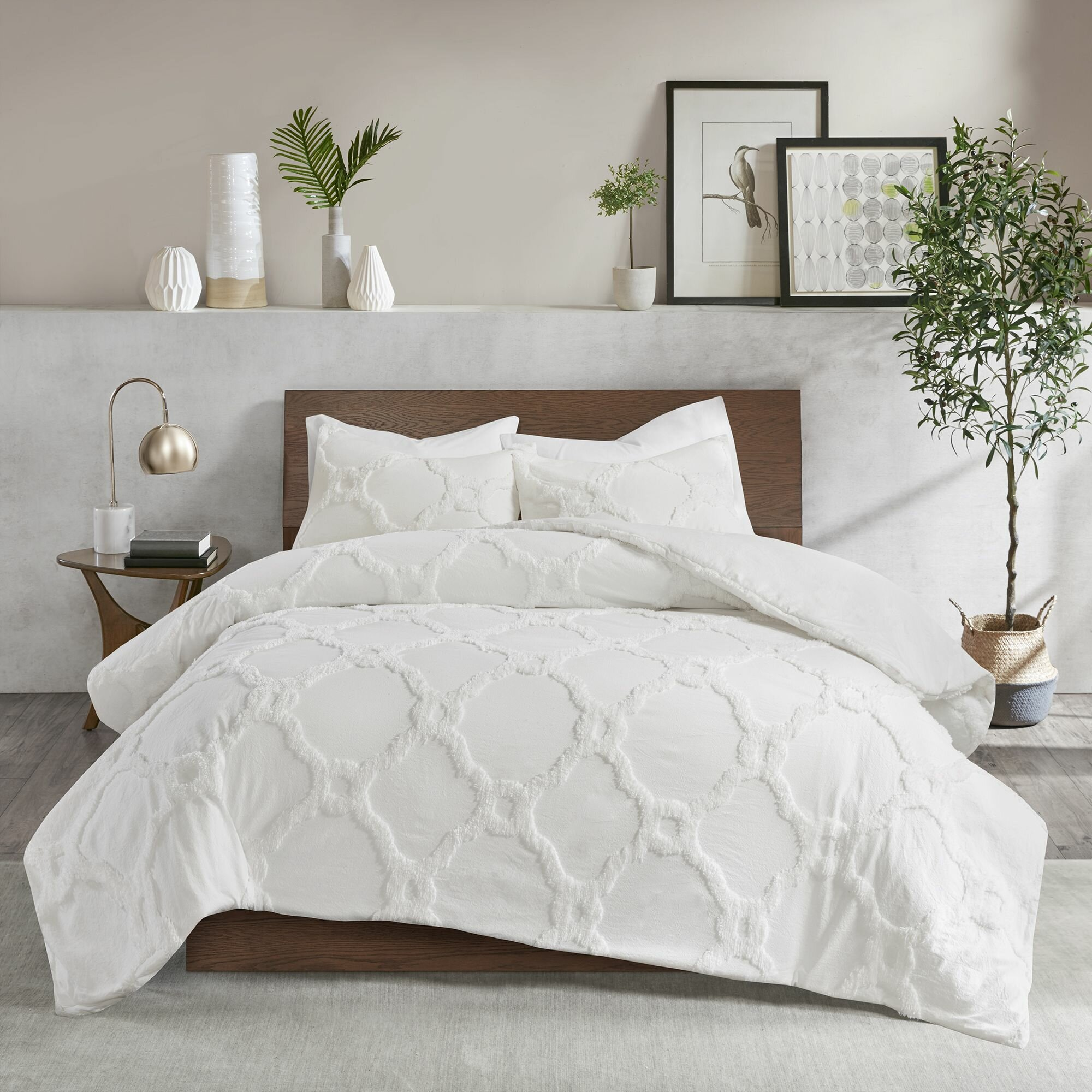 Mize Cotton Chenille Duvet Cover Set Reviews Joss Main