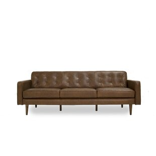 Corrigan Studio Trevor Mid Century Modern Leather Sofa