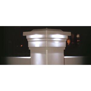 Solar 4-Light Fence Post Cap