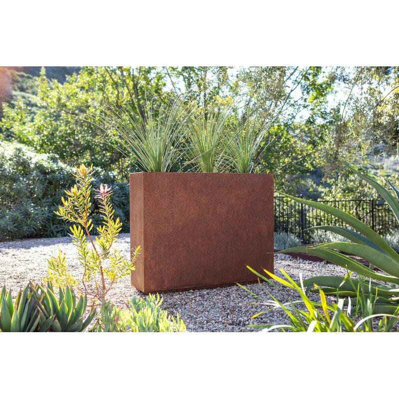 Veradek Metallic Series Corten Steel Planter Box Reviews Wayfair