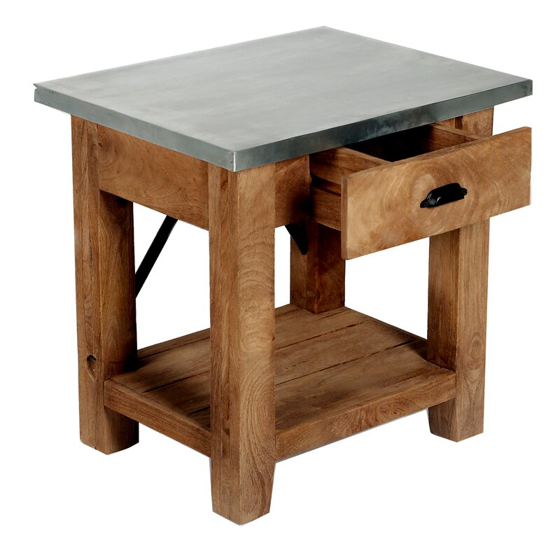 Gracie Oaks Crockett End Table With Storage