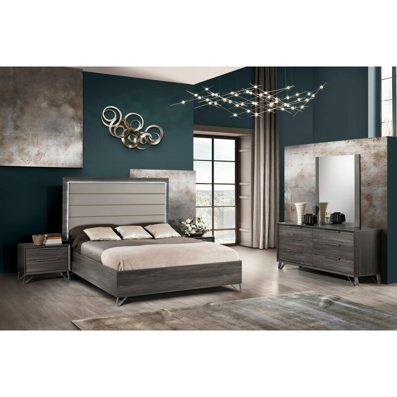 Corrigan Studio Biddle Series Sleigh 5 Piece Bedroom Set Wayfair