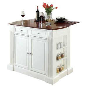 Byron Kitchen Island with Cherry Top by Beachcrest Home