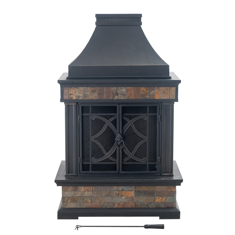 Heirloom Steel Wood Burning Outdoor Fireplace Reviews Joss Main