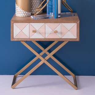 Vanhouten End Table with Storage by George Oliver