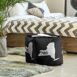 Buffalo New York Cube Ottoman by East Urban Home