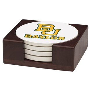 5 Piece Baylor University Wood Collegiate Coaster Gift Set By Thirstystone