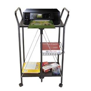 2 Tier Metal Foldable Bar Cart by Mind Reader