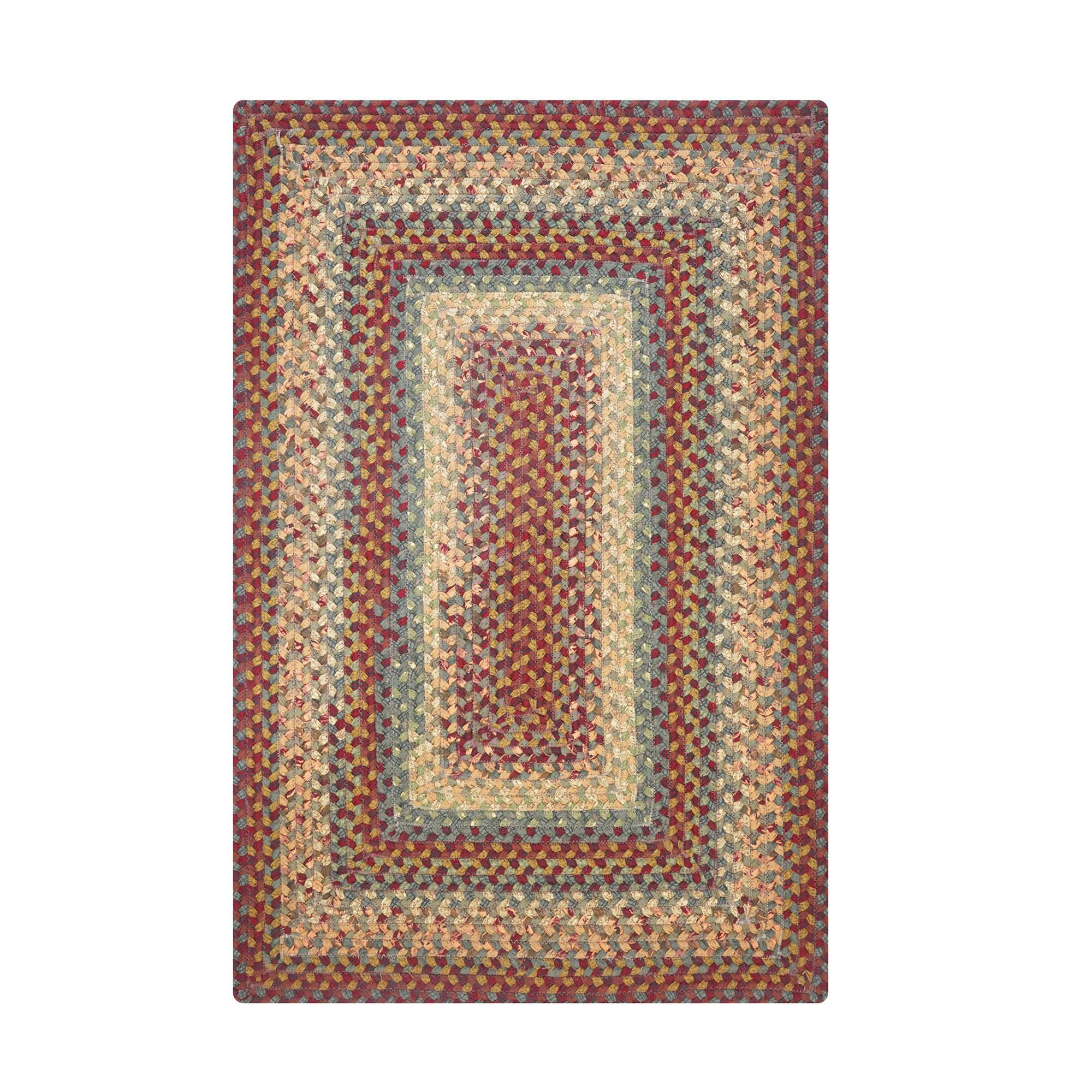 August Grove Kincade Geometric Braided Cotton Red Green Mustard Area Rug Reviews Wayfair