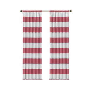 Jameson Striped Blackout Thermal Rod Pocket Single Curtain Panel
