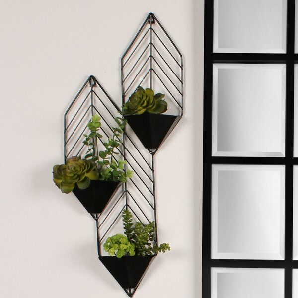 Attractive Geometric Wall Planter | Wayfair EK54