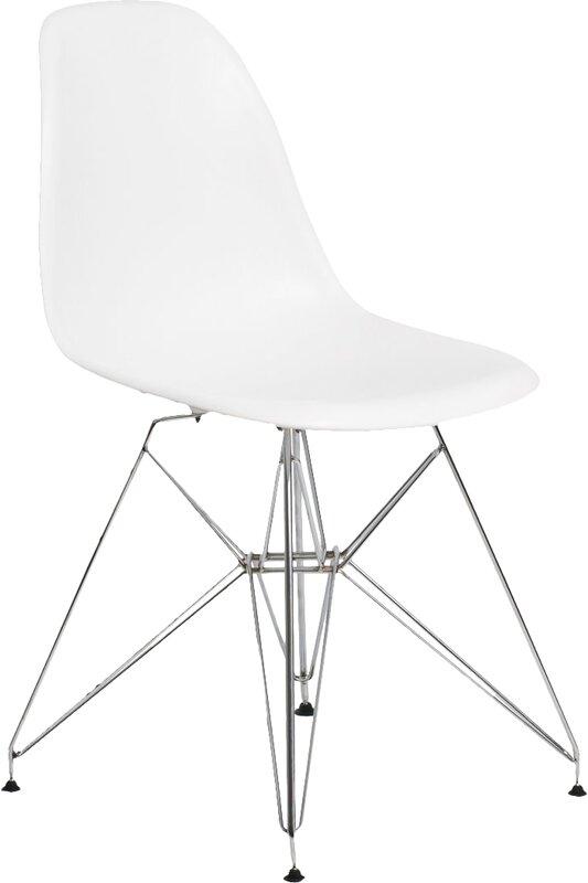 Midcentury Modern White Dining Chair