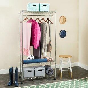 Online Reviews 35.4 W Garment Rack By Rebrilliant