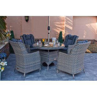 Graciela 4 Seater Dining Set With Cushions By Sol 72 Outdoor