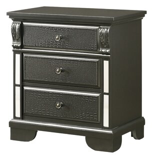 Northern 3 Drawer Nightstand
