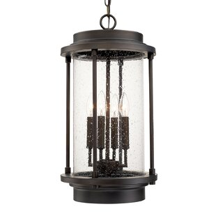Laurel Foundry Modern Farmhouse Bergland 4-Light Outdoor Hanging Lantern
