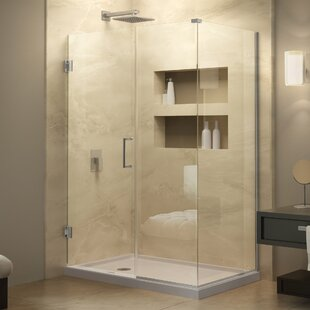 Unidoor Plus 55.5 x 72 Hinged Frameless Shower Door with Clear Max Technology by DreamLine