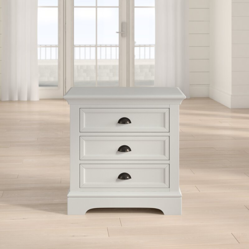 Appleby 3 Drawer Solid Wood Nightstand