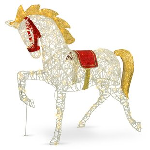 Pre Lit Carnival Horse Lighted Display